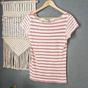 Anthropologie Pilcro Red Striped Top
